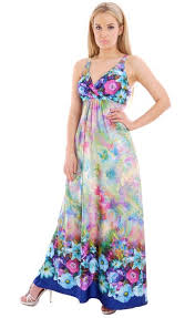 buy ladies summer maxi dress empire style flower uk design by