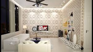 living room wallpaper of living room inspirations brick