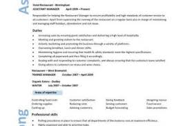 summary of restaurant manager resume 28 images restaurant