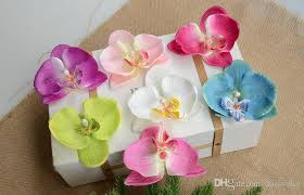 flower decoration for hair 2017 7cm orchid flowers artificial flower petals silk orchid