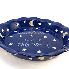 personalized pie plate ceramic galaxy personalized pie plate moon and pie dish out