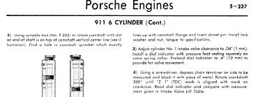 porsche 911 specs what are the timing specs for a 1974 porsche 911 s with a 2 7