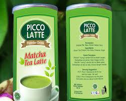 Teh Matcha gallery desain packaging untuk minuman picco latte varian