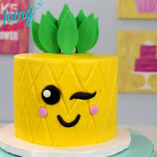 Watermelon Cake Decorating Ideas Kawaii Inspired Pineapple Cake Full Video And Recipe On Youtube