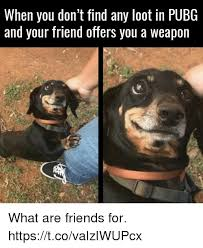 pubg memes when you don t find any loot in pubg and your friend offers you a