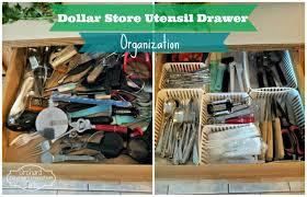 orchard girls thrifty thursday dollar store utensil drawer