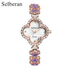 Best Gift For Women Aliexpress Com Buy Selberan Super Fashion Clover Bracelet Watch