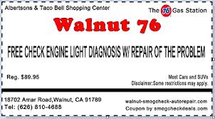 places that do free check engine light free check engine light walnut 76