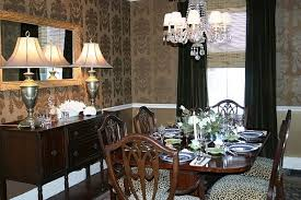 Wallpaper For Dining Room by Dining Room In Gold Wallpaper From Thibaut Traditional Dining