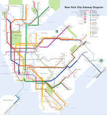 Printable Map Of New York City by New York City Subway Map Wikipedia