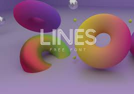 design lines font lines free font on behance