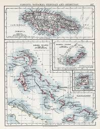 Map Of Columbus Voyage Jamaica Colony