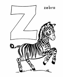 abc alphabet coloring sheets zebra honkingdonkey
