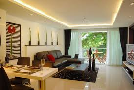 japanesse interior modern living room design with natural touch of