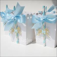 Blue Favors by Blue Gold Carousel Popcorn Favor Boxes Carousel