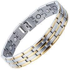 silver energy bracelet images Stainless steel man magnetic bracelet energy link gold jpg