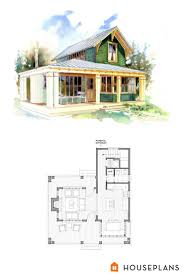 House Plans For Small Cabins Small 1 Bedroom Beach Cottage Floor Plans And Elevation By
