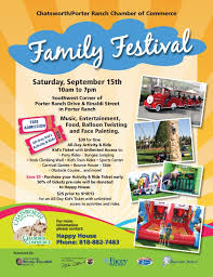 chatsworth porter ranch chamber of commerce family festival