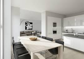 grey kitchen and living room u2013 modern house