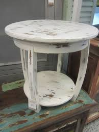 distressed wood end table rustic white end tables coma frique studio 6d9238d1776b