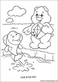 care bears coloring care bear themed party