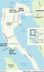 Whidbey Island Map A Hike And A Happy Hour Explore Splendid Camano Island And Its