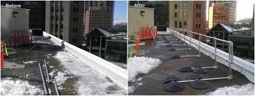 Handrail Requirements Osha Railing Needed For Rooftop Osha Violation Before U0026 After Fall