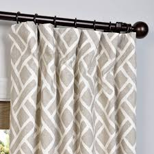 martinique taupe 96 x 50 inch printed cotton curtain single panel