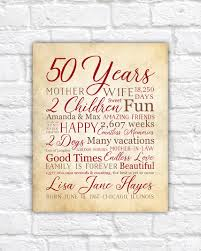 birthday gift for 50th birthday mom bday gift 50 years old gift