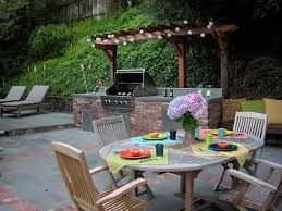 Backyard Grill Ideas Brick Grill Ideas Patio Traditional With Floral Arrangement Patio