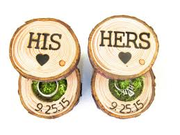 his and hers bridal wedding ring bearer pillow box his and hers wedding ring box