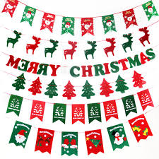new year party supplies christmas decorations for home garland bunting banner hanging flag