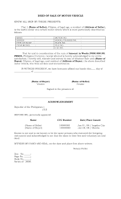 Oregon Power Of Attorney Forms by Philippines Deed Of Sale Of Motor Vehicle By Batotoyako Sale