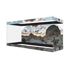 halloween fish tank background habitat wraps desert canyon cloud reusable glass tank background