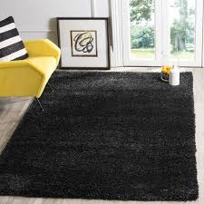 Solid Black Area Rugs Safavieh California Cozy Plush Black Shag Rug 8 X 10 Free