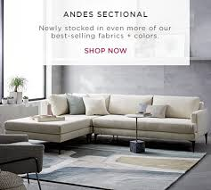 Grey Sofa Sectional by Modern Sectional Sofas West Elm