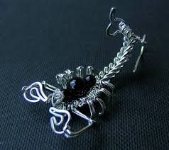 Halloween Earrings Sterling Silver Scorpion Earrings Halloween Earrings