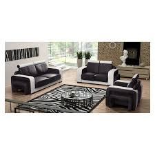 Real Leather Sofa Set by Real Leather Sofa Set Bronx 3 2 1 Pouf Italian Style Noname