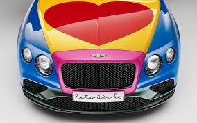 used bentley ad limited edition sir peter blake bentley convertible sells for 250 000