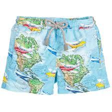 St Barts Map by Mc2 St Barth Boys Swim Shorts With Map Print Childrensalon