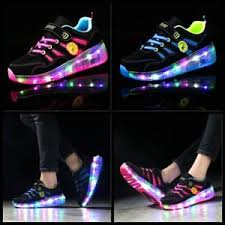 heelys light up shoes flash skates shoes kids girls boys skate led shoes size light up