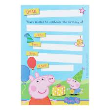 peppa pig invitations