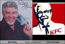 Colonel Sanders Memes - rolf harris totally looks like colonel sanders memebase funny