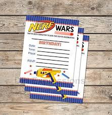 blank invitations nerf wars fill in blank invitations flat cards set
