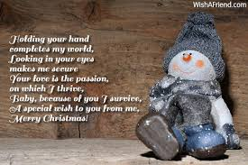 holding your hand completes my world looking christmas message