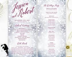 Winter Wedding Programs View Wedding Programs By Lemonwedding On Etsy