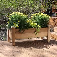 Greenes Fence Raised Beds by Greenes 2 X 8 Ft X 10 5h In Cedar Raised Garden Kit Hayneedle