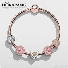 sterling silver rose gold bracelet images Dorapang newest 100 925 sterling silver rose gold bracelet jpg