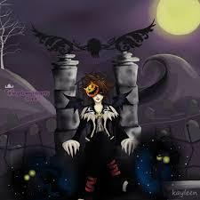 marilyn manson halloween kingdom hearts sora in halloween town graveyard by kayleen chan