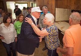 donald trump visits louisiana u0027s beleaguered bayou boston herald